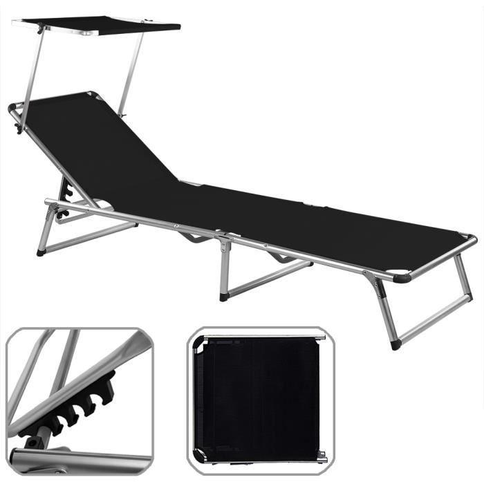 Chaise longue chaise longue de jardin parasol rglable noir with tonnelle pliable lidl - La chaise longue strasbourg ...