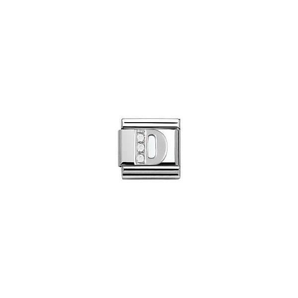 NOMINATION Maillon Bracelet Argent 925°et Oxyde de Zirconium Mixte