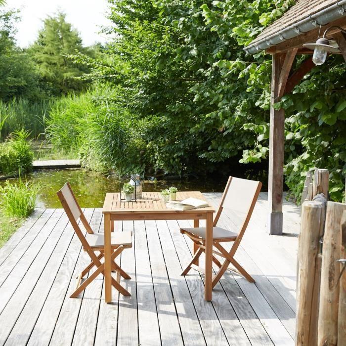 Salon de jardin en bois d\'acacia FSC 2 places - Achat / Vente salon ...