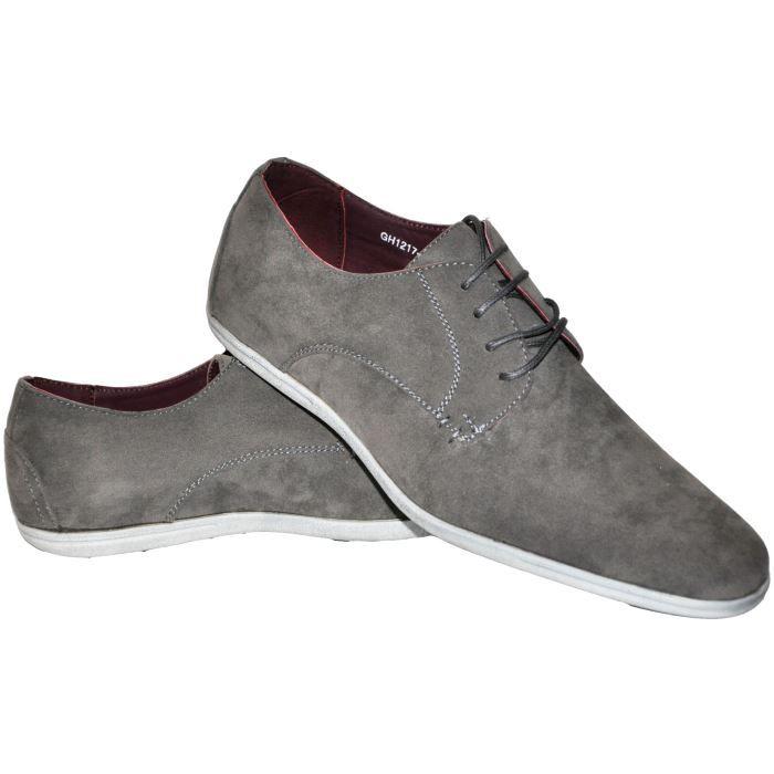 2a9ab443a04 Chaussures homme daim grises Ho... Gris Gris - Achat   Vente ...
