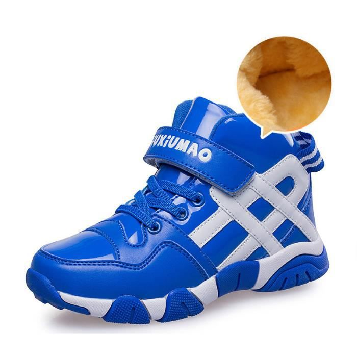 Chaussures de basket - ball boy l'hiver les Chaussures fourrées pour enfants chaussures de loisirs des filles de bandes Velcro de h1gwGND0n