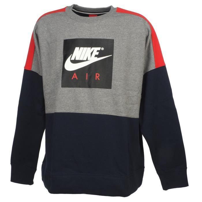 Chiné Gris Flc Air Nike Crew Sweat Vente Achat x6XqpH