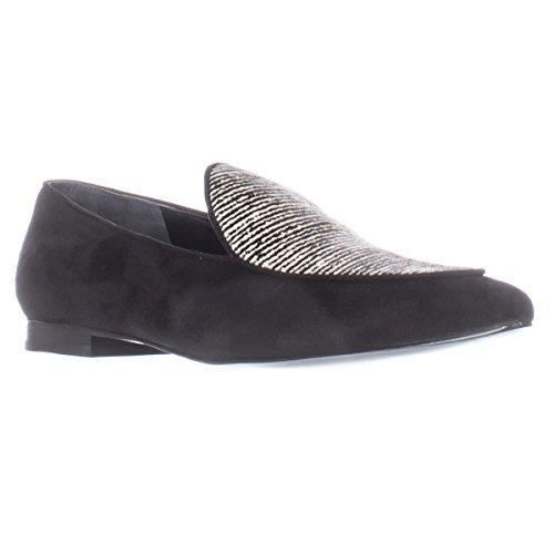M.f. Tanialy Pointed Toe Loafer Flats - Black Multi VYOZO Taille-41