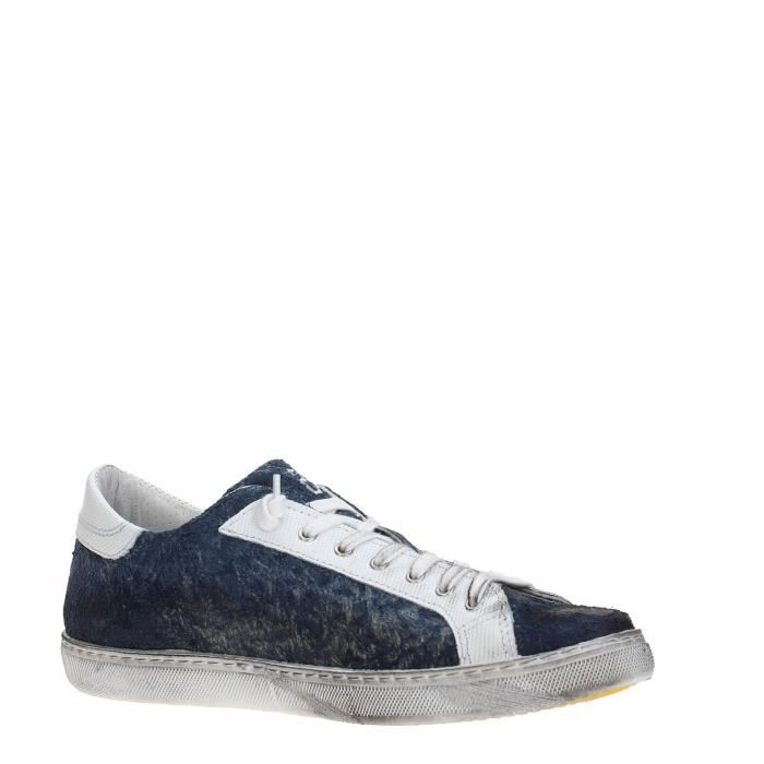 2 Star Sneakers Homme WHITE/BLUE, 40
