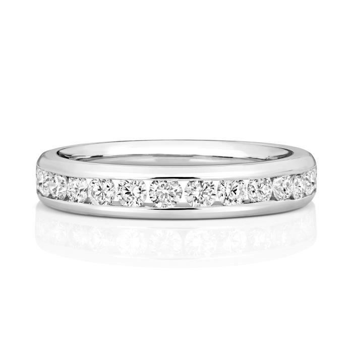 Bague de Mariage-Alliance Femme 3,7mm Platine 950 et Diamant Brillant 0.72 Carat G - SI VS 31165