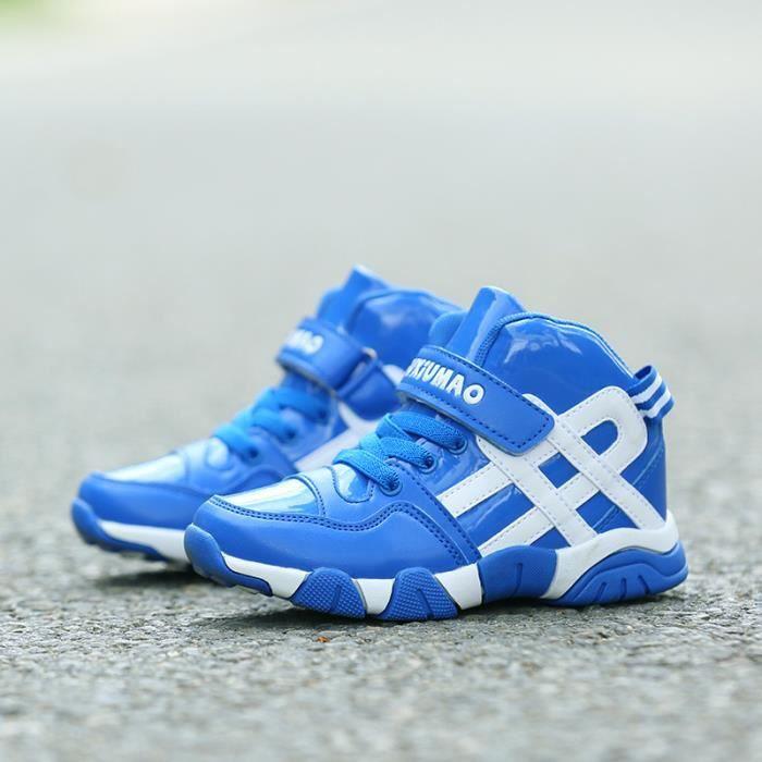 Chaussures de basket - ball boy l'hiver les Chaussures fourrées pour enfants chaussures de loisirs des filles de bandes Velcro de