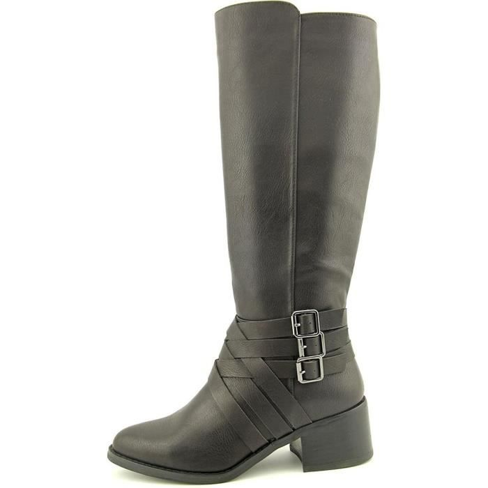 Womens Noralee Round Toe Mid-calf Leather Riding Boots EGSFN Taille-36