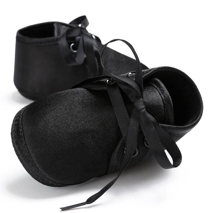 BOTTE Chaussures bébé garçon fille nouveau-né crèche chaussures à semelle souple@Noir 4zSL6XqqL