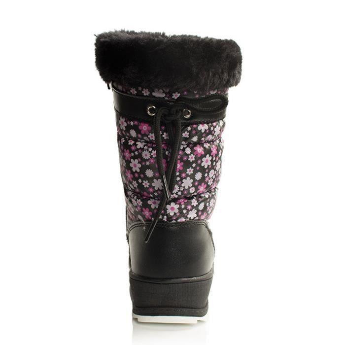 Napoulen®Bow Tie chaussons à l'intérieur anti-dérapant hiver chaussures douces ROSE CHAUD-SJF71016732HOT ndNKue0Lk