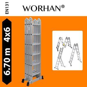 ECHELLE - ESCABEAU WORHAN® 6.7m Échelle Aluminium Multifonction Polyv