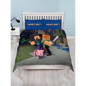 parure de lit minecraft achat vente parure de lit minecraft pas cher cdiscount. Black Bedroom Furniture Sets. Home Design Ideas