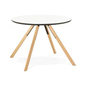 table ronde blanche achat vente table ronde blanche pas cher cdiscount. Black Bedroom Furniture Sets. Home Design Ideas