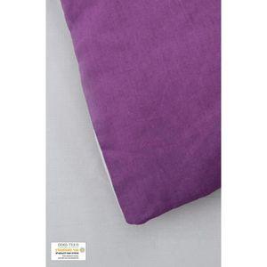 housse de couette violette 240x260 achat vente pas cher. Black Bedroom Furniture Sets. Home Design Ideas