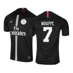 1ff31c95289 MAILLOT DE FOOTBALL Maillot Jordan x PSG Third Mbappé 2018-19 Noir Jun