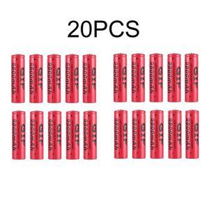 PILES 20 PCS Batteries rechargeables Li-ion piles 3.7V 9
