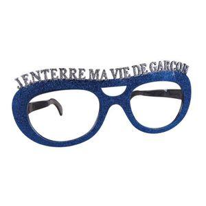 MASQUE - DÉCOR VISAGE Lunettes Géantes J'enterre ma Vie de Garçon Bleu