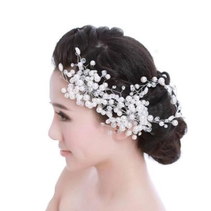 coupon code cheaper check out Bandeau cheveux mariage perles