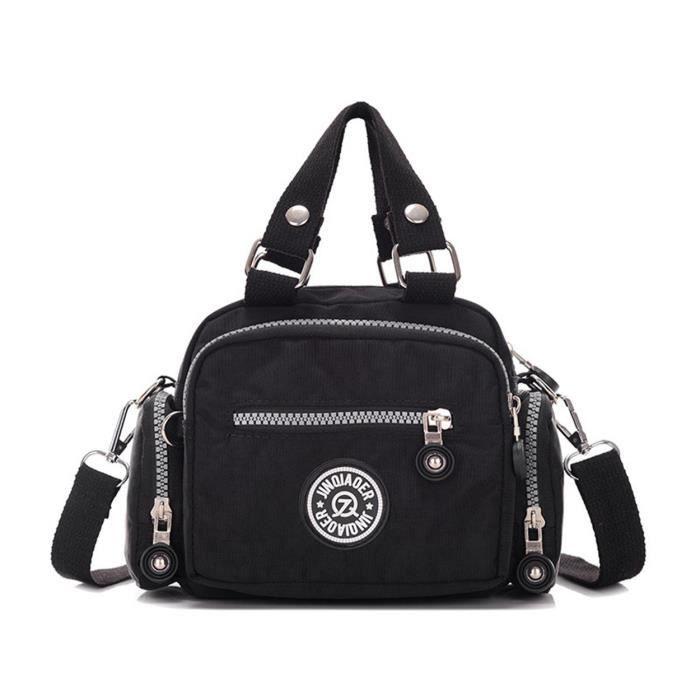 Mini Solide Couleur Résistant à leau en nylon Sac à main Croix épaule Body Bag & Girls GV44X