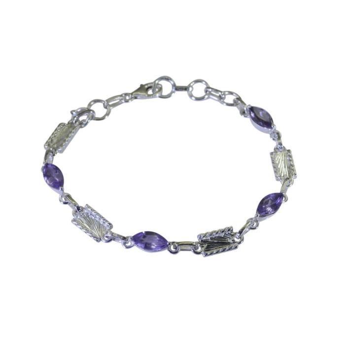 Améthyste Bracelet - Bracelet Argent - Bracelet Purple - Violet Bracelet en argent