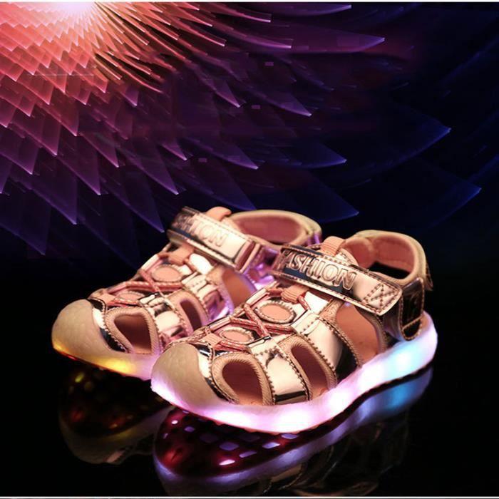 HuskSware® sandale enfant pour sandales LED lumineux clignotant garons filles sportives enfants occasionnels chaussures