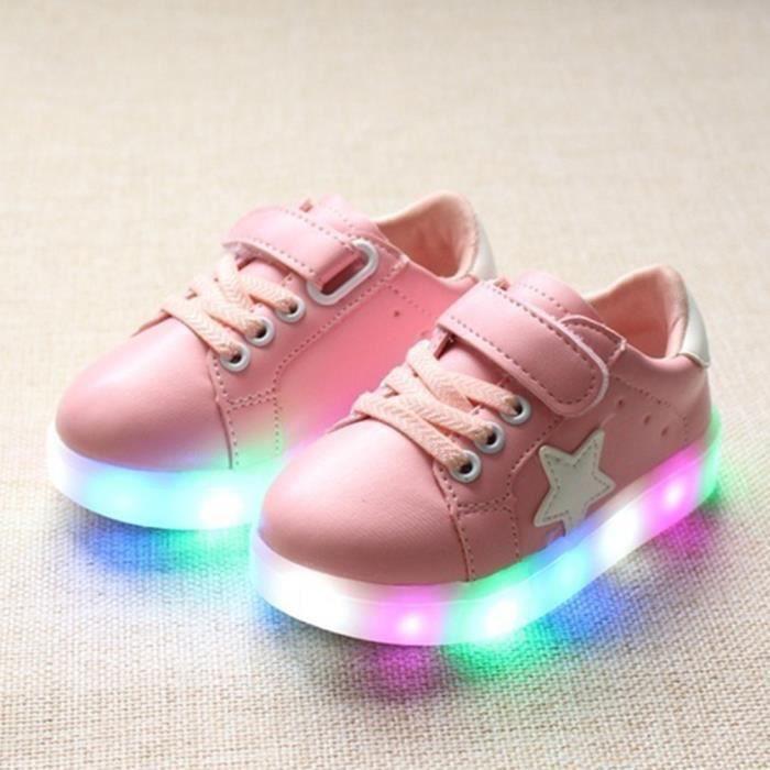 Flash LED Sneakers Casual chaussures de skate pour les enfants SlqyguMpOt