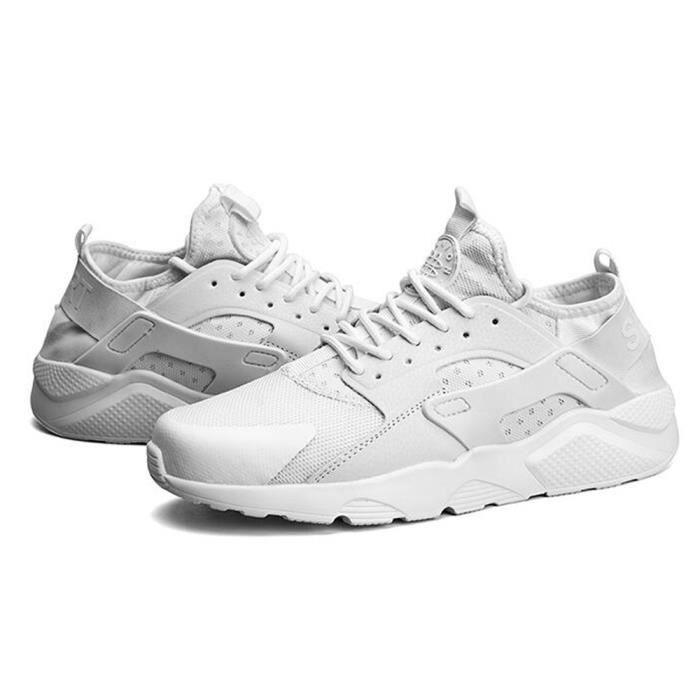 Basket Hommes et femmes chaussures de sport Chaussures de course Respirant- CasualChaussures - Blanc