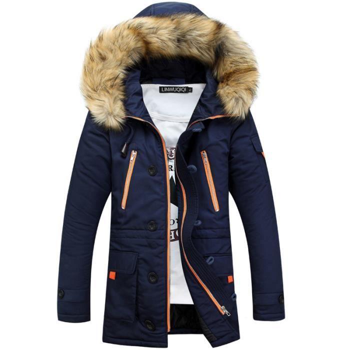 manteau homme hiver marque doudoune homme capuche parka homme paississant veste hommes. Black Bedroom Furniture Sets. Home Design Ideas