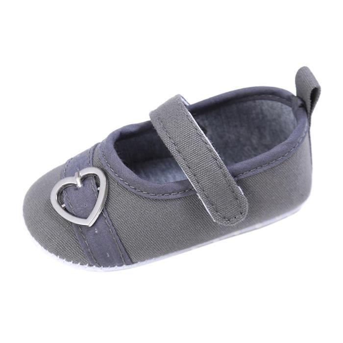 BOTTE Nouveau-né Bébé Enfants Garçons Filles Coeur Design Hasp Chaussures Toddler Sole Sole Sneakers@Bleu NLXgsIbMM