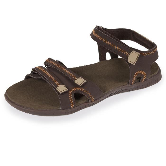 fac9ec65e2e22 Sandales homme Marron Marron - Achat   Vente sandale - nu-pieds ...