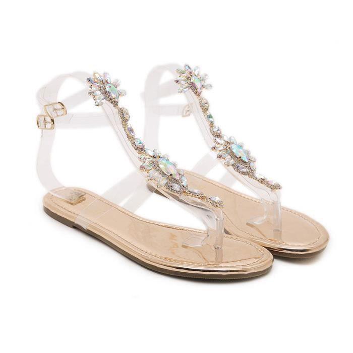 Sandales Femme Chaussures Bandage Simple Plates De OkXwZPlTiu