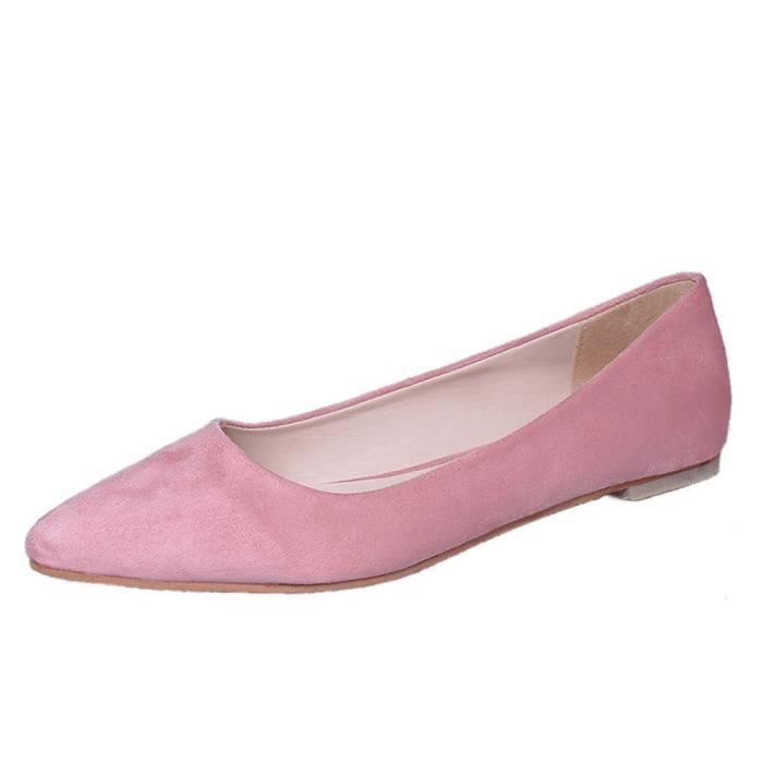 Shoes Pointed Rose on Slip Casual Fashion Girl Flat 6118 Femmes Shallow Top Party xz qnAwB6