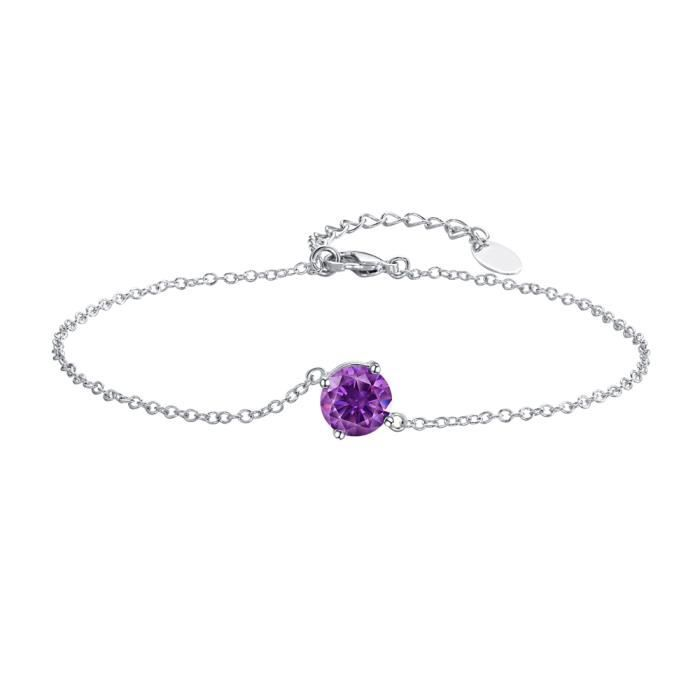 Bracelet en Cristal de Swarovski Elements Violet - Blue Pearls