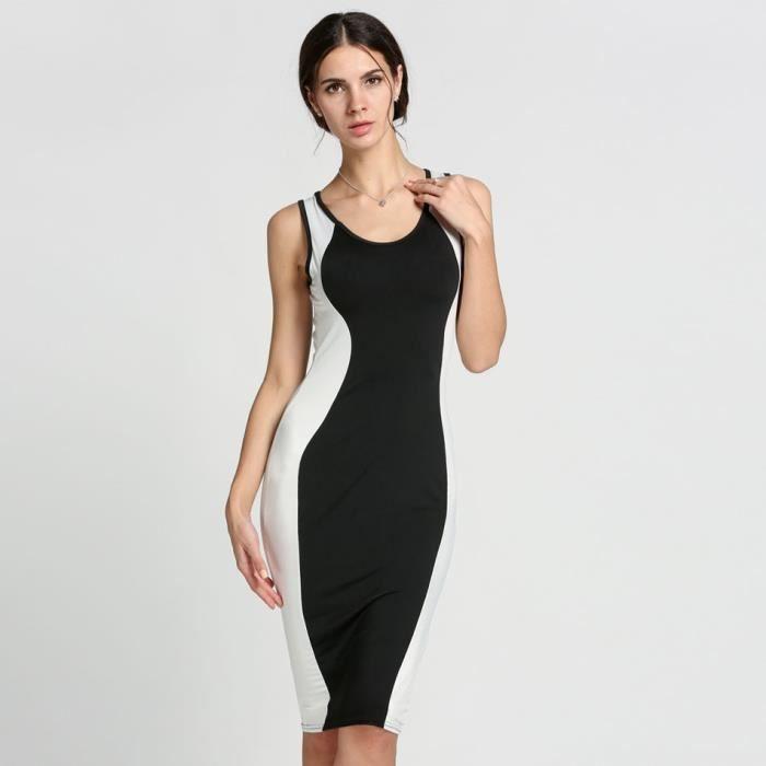 Bodycon Parti RobeSlim Fit Nouvelle Sexy Femmes Clubwear U-cou Sans Manches