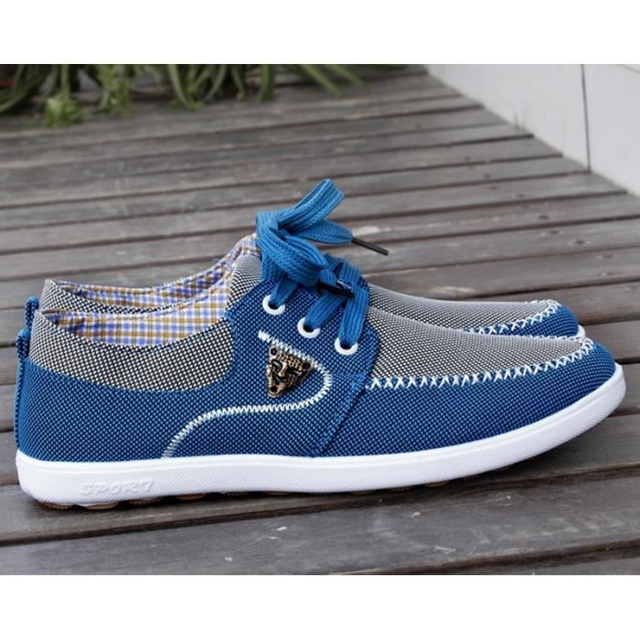 (light blue)Chaussures de toile chaussures mode casual hommes.