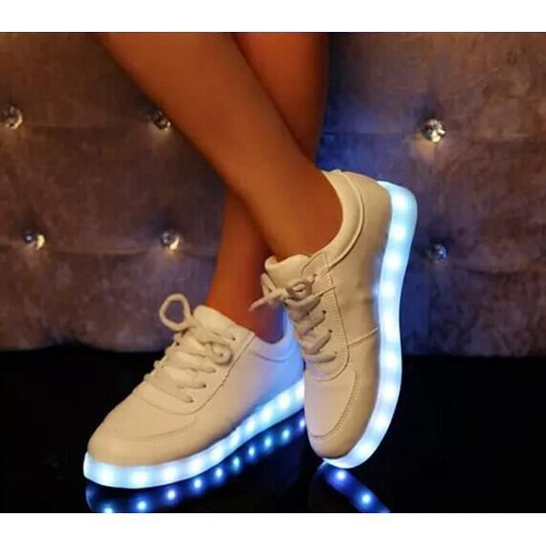 Femme USB Cha si ing LED Chaussures grande tail...