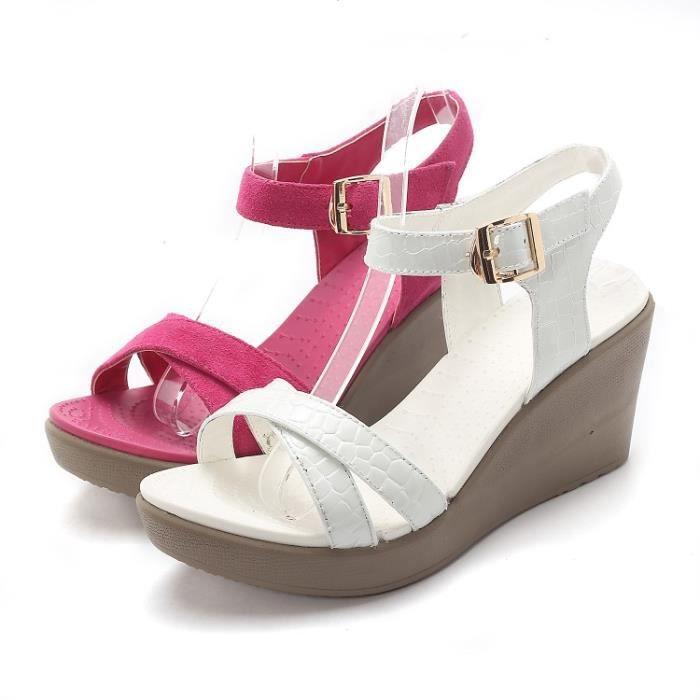 Femmes Sandales chaussures hauts Bout ouvert pour printemps été