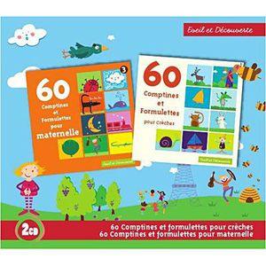 CD COMPTINES - ENFANTS 60 COMPTINES ET FORMULETTES POUR CRECHES VOL.1