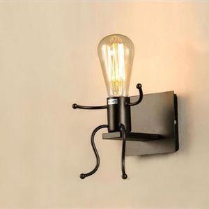 APPLIQUE  NOVA Créatif Lampe Murale E27 Forme Homme Sconce L