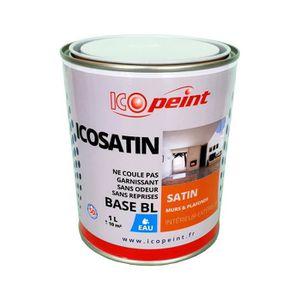 Peinture Satin Murale A Leau Lessivable ICOSATIN Acrylique - Peinture glycero a l eau
