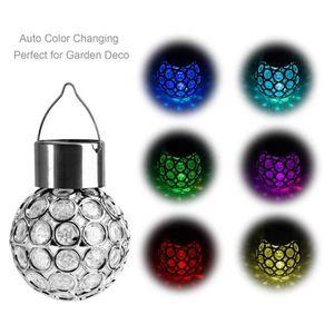 LAMPE DE JARDIN  Solaire Lumières de boule à suspendre d'extérieur