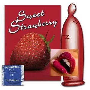 PRÉSERVATIF 100 préservatifs/preservatif/condom fraise unilate