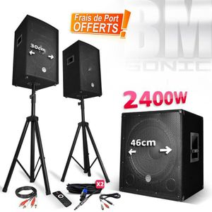 PACK SONO Pack sonorisation 2400W - Enceintes + Caisson + Pi