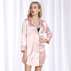 Pyjama en soie petit petit costume de service à domicile ( Couleur : Orange , taille : L )