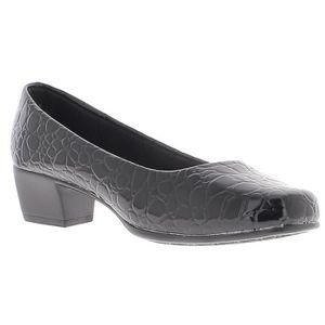 ESCARPIN Chaussures femme noires à talons bloc de 4 cm conf 4a53dd19f9d5