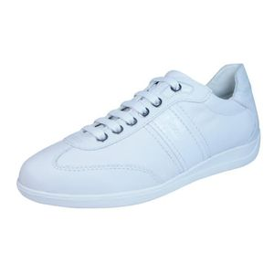 BASKET Geox D Myria A Les femmes en cuir baskets  Blanc 7