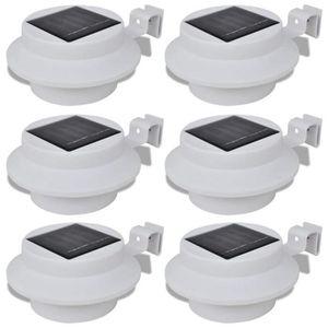 PROJECTEUR EXTÉRIEUR 6 pack lampe solaire extérieur 3 LED à détection d