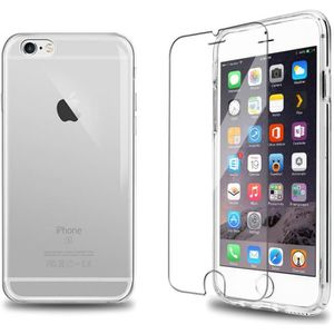 COQUE - BUMPER Verre Trempé + Coque TPU Transparent iPhone 6s / 6