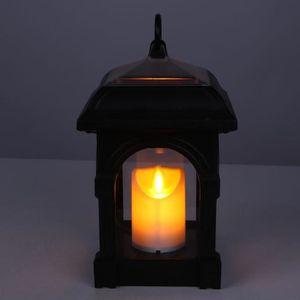 BALISE - BORNE SOLAIRE  Bougie Lanterne Forme Solaire LED Lumière IP44 Imp
