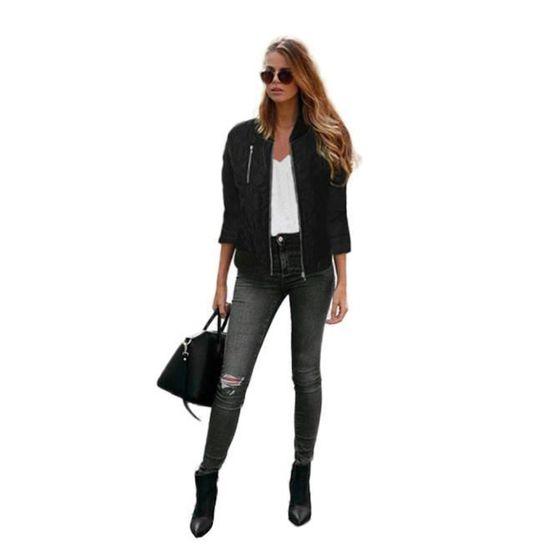 Manteau Mode Cardigan Femmes Trench Veste De nbsp;noir Manteaux Parka 55H7AqrRf