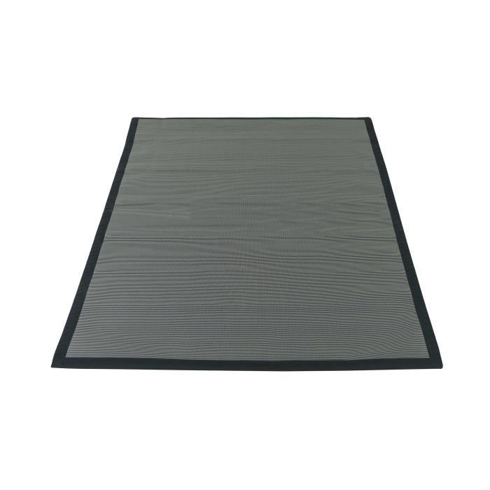 Tapis de protection pour barbecue en polypropylène recyclé 120 x 180 cm noir